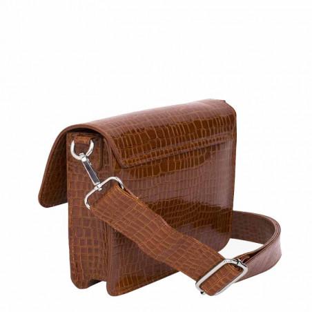 Hvisk Taske Cayman Pocket, Chocolate hvisk cayman taske hvisk tasker bagside