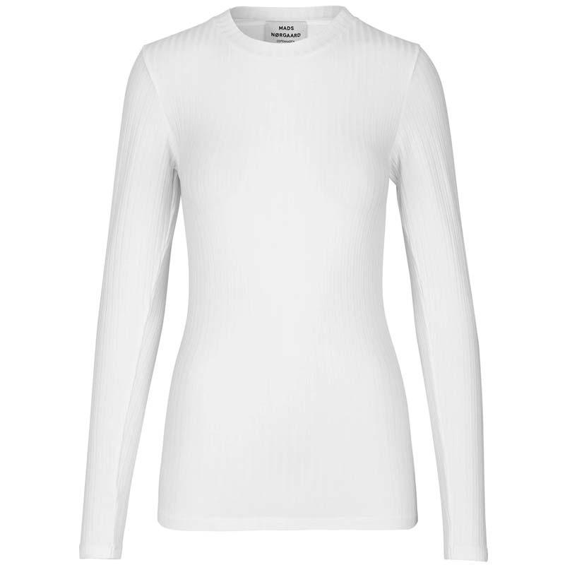Mads Nørgaard T-shirt dame, Tuba, Hvid Mads Nørgaard bluse Mads Nørgaard bluser mads nørgaard langærmet t-shirt