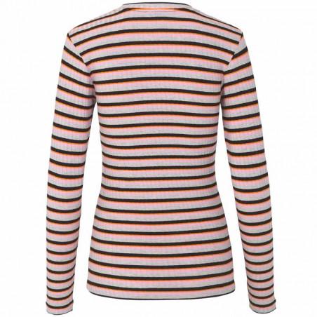 Mads Nørgaard T-shirt dame, Tuba, Rose/Multi Mads Nørgaard bluse Mads Nørgaard bluser mads nørgaard langærmet t-shirt bagside