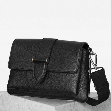 Decadent Taske, Gloria Double Bag, Black, decadent copenhagen, decadent belt bag, tasker decadent side
