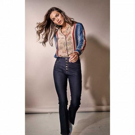 Mos Mosh Jeans, Athena Kick, Dark Blue mos mosh bukser model