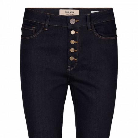 Mos Mosh Jeans, Athena Kick, Dark Blue mos mosh bukser detalje