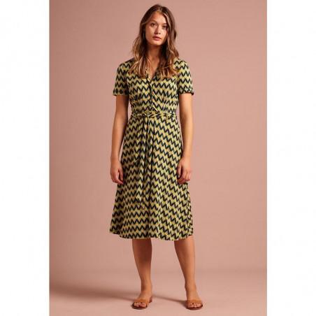 King Louie Kjole, Sheeva Namaste, Spar Green king louie kjoler king louie tøj kjole king louie kinglouie kjole front