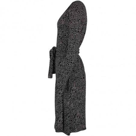 Danefæ Kjole, Regina, Black/Chalk Funny Dots - Slå om kjole fra Danefae