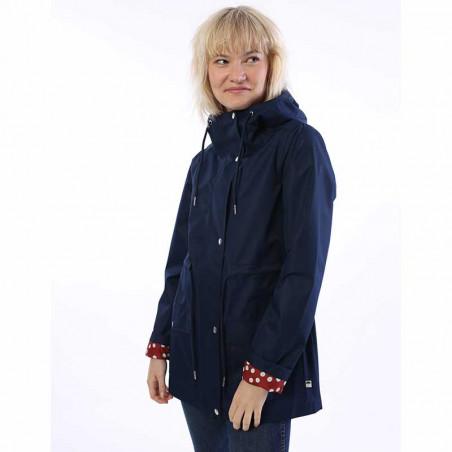 Danefæ Regnjakke, Lotta, Navy danefæ jakke dame danefæ jakker danefæ regnfrakke front