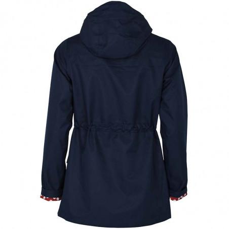 Danefæ Regnjakke, Lotta, Navy danefæ jakke dame danefæ jakker danefæ regnfrakke bagside