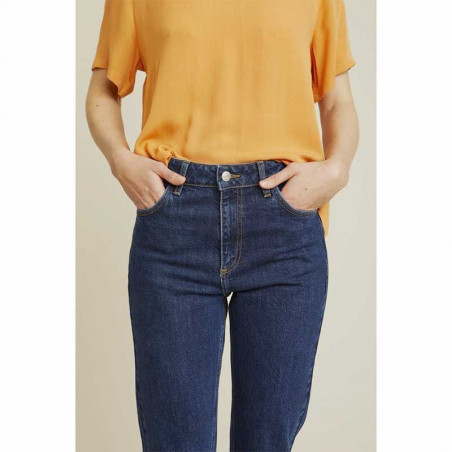 Basic Apparel Jeans, Emmy, Darker Denim Basic Apparel bukser front