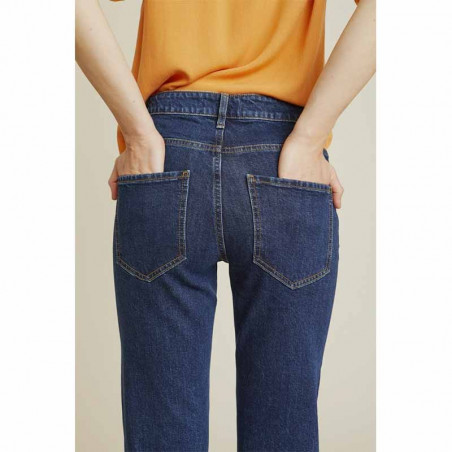 Basic Apparel Jeans, Emmy, Darker Denim Basic Apparel bukser bagside