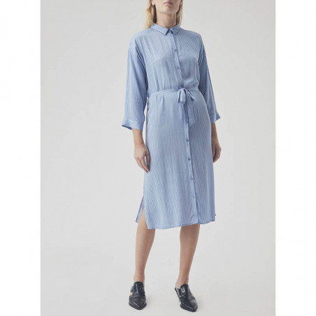 Modström Kjole, Bea, Twill Stripe modstrøm tøj modstrøm kjole front