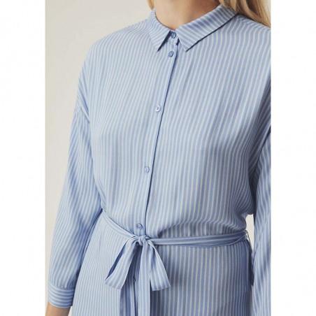 Modström Kjole, Bea, Twill Stripe modstrøm tøj modstrøm kjole detalje