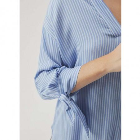 Modström Skjorte, Bea, Twill Stripe modstrøm tøj detalje