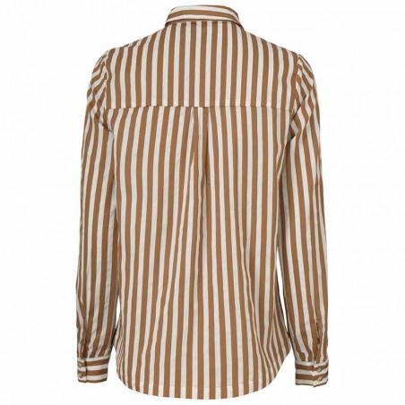 Modström Skjorte, Barbette, Warm Camel Stripe bagside