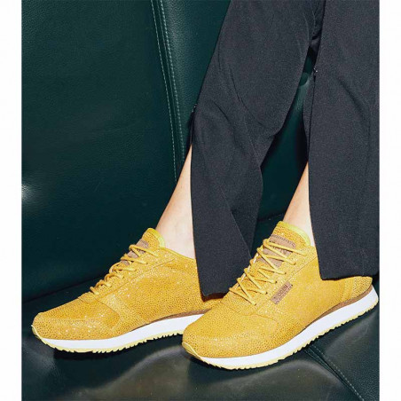 Woden Sneakers, Ydun Pearl, Super Lemon, gule sneakers, damesneakers, Woden sko model
