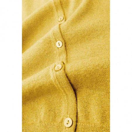 King Louie Cardigan, Cardi Lapis, Mimosa Yellow stof