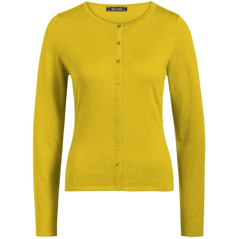 King Louie Cardigan, Cardi Cocoon, Spring Yellow king louie tøj