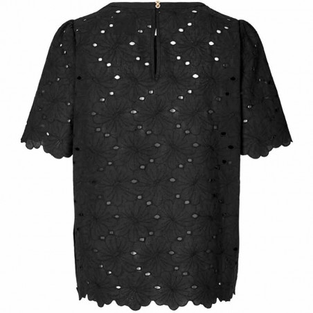 Lollys Laundry Top, Christina, Washed Black Lollys Laundry bluse bagside