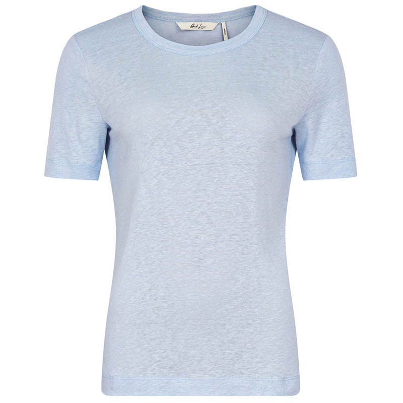 Image of   And Less T-shirt, Alnoe, Zen Blue
