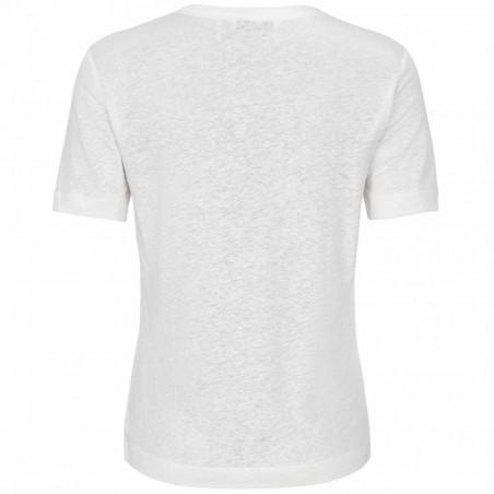 And Less T-shirt, Alnoe, Bril. White bagside