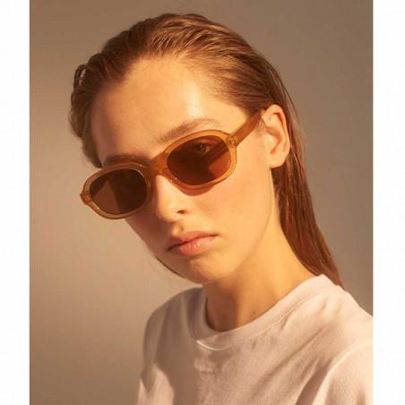 A Kjærbede Solbriller, Bob, Light Brown Transparent - Model