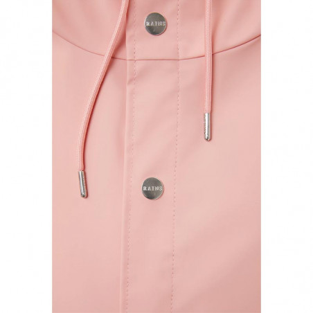 Rains Regnjakke dame, Kort, Coral rains jakke rains jacket detalje