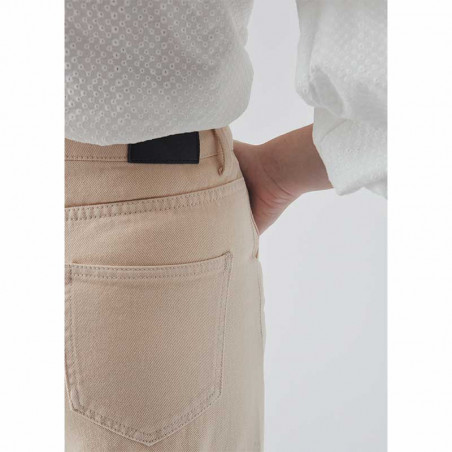 Modström Bukser, Bello, Light Sand modström jeans detalje