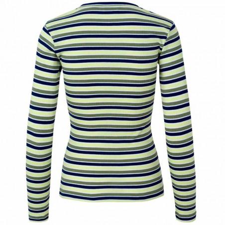 Mads Nørgaard T shirt Tuba stribet i multi army Køb den her!