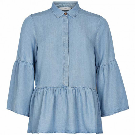 Nümph Bluse, Nuahna, Light Blue Denim  Nümph Tøj