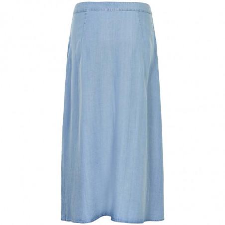 Nümph Nederdel, Nuahna, Light Blue Denim - Numph nederdel, Nümph tøj, lang nederdel - Bagside