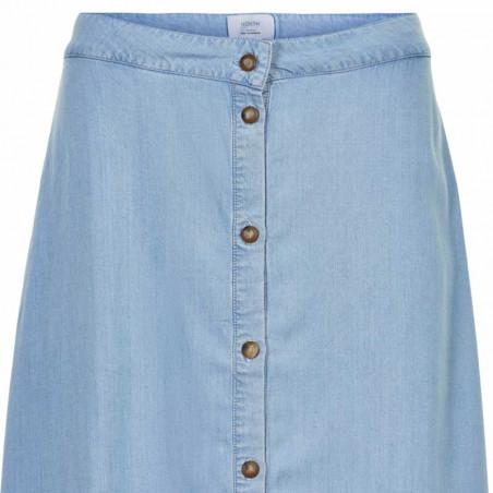Nümph Nederdel, Nuahna, Light Blue Denim - Numph nederdel, Nümph tøj, lang nederdel - Detalje