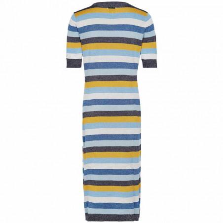 Nümph Kjole, Nualayah, Sapphire, Nümph tøj, Numph, lang kjole, numph kjole - Bagside