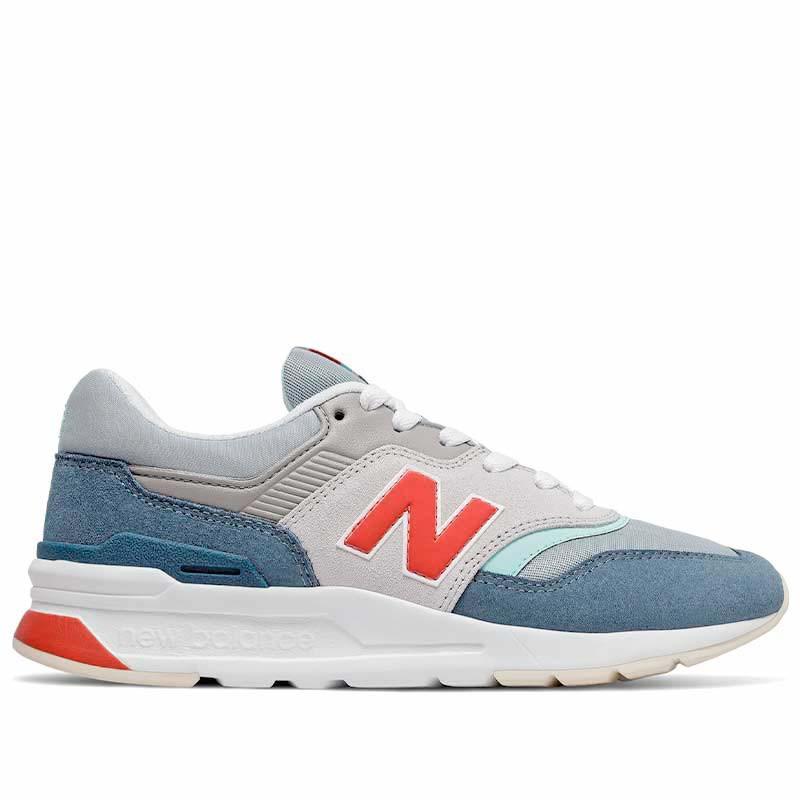 new balance New balance sneakers, 997, stone blue/toro red på superlove