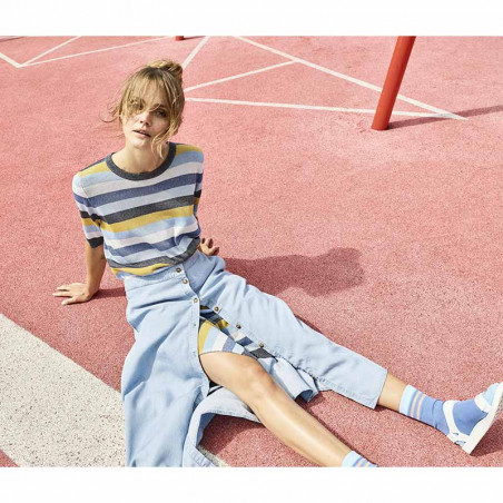 Nümph Nederdel, Nuahna, Light Blue Denim - Numph nederdel, Nümph tøj, lang nederdel model