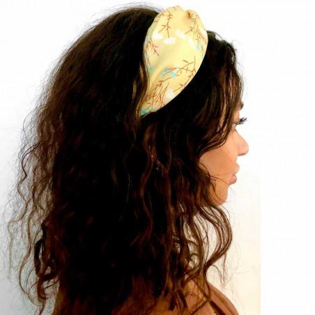 Pico Hårbånd, Sara, Cognac Flower pico copenhagen hårbøjle detalje
