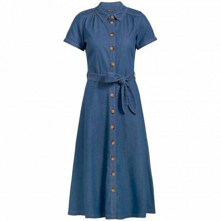 King Louie Kjole, Olive, River Blue, Lang kjole, lang kjole til fest, denim