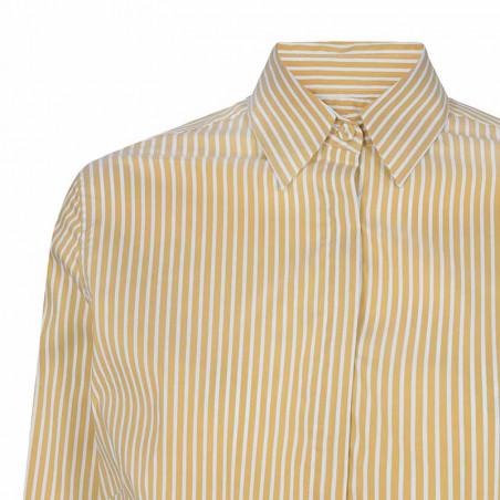Mos Mosh Skjorte, Larina Stripe, Jojoba Stripe detalje