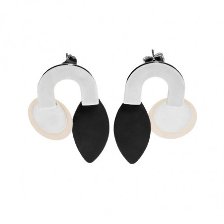 Pendulum Øreringe, Pearl Large, Hvid/Guld, Smykker, smykker til kvinder, smykker København,