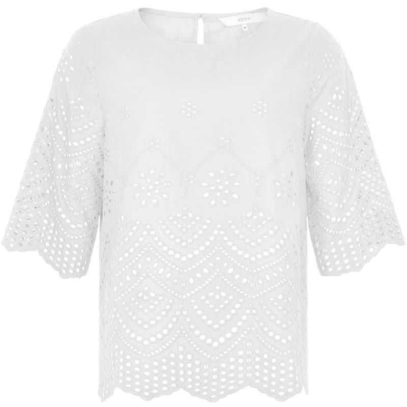 Nümph Bluse, Nubraelynn, Bright White, Nümph tøj