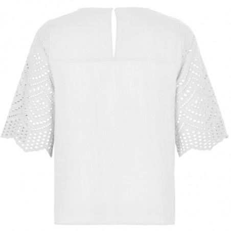 Nümph Bluse, Nubraelynn, Bright White, Nümph tøj - Bagside