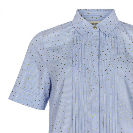 Nümph Kjole, Nualafia, Blue Stripe, Numph kjole, Numph tøj - Detalje