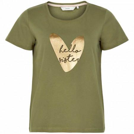 Nümph T-shirt, Nuaziliz, M. Olive numph t-shirt med print