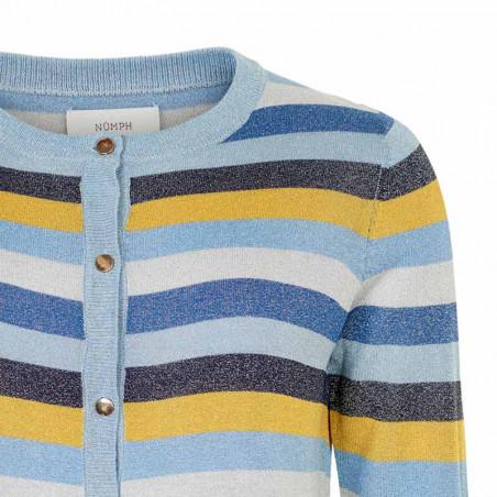 Nümph Cardigan, Nualayah, Sapphire nümph bluse detalje