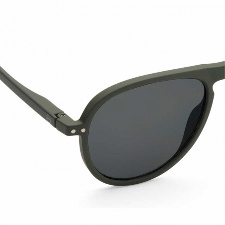 Izipizi Solbriller dame, I Sun, Khaki Green Izipizi briller dame detalje