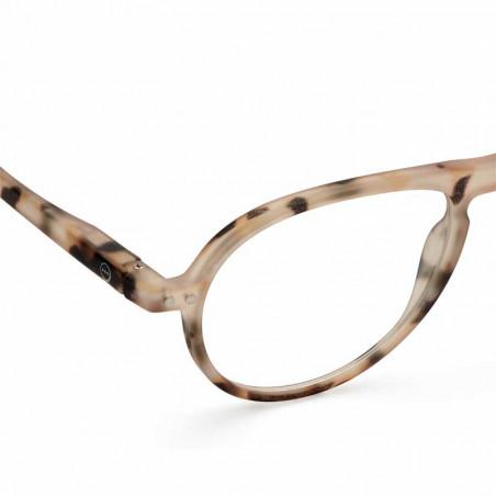 Izipizi Briller, K Reading, light tortoise izipizi læsebriller dame billige læsebriller detalje