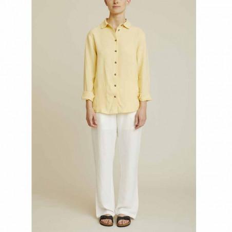 Basic Apparel Skjorte, Trine, Straw - Model