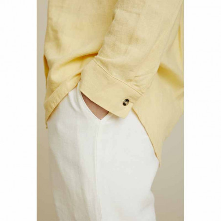 Basic Apparel Skjorte, Trine, Straw - Detalje