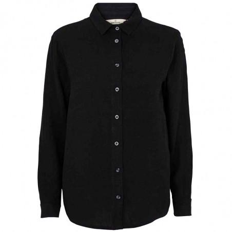 Basic Apparel Skjorte, Trine, Black