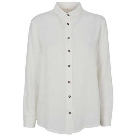 Basic Apparel Skjorte, Trine, Off White