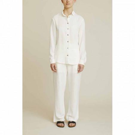 Basic Apparel Skjorte, Trine, Off White - Model