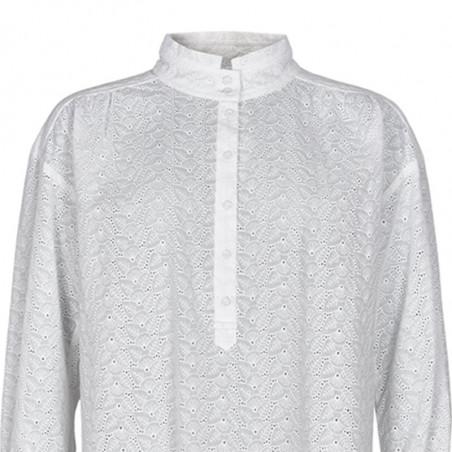 Nümph Skjorte, Nuaverie, Bright White, numph tøj, numph bluse - Detalje