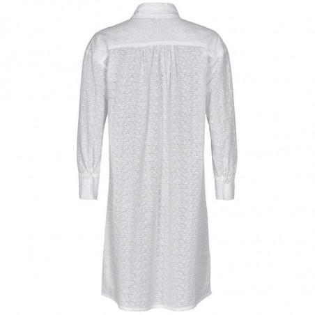 Nümph Skjorte, Nuaverie, Bright White, numph tøj, numph bluse - Bagside